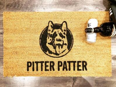 Amazing pitter patter dog lover all over printed doormat