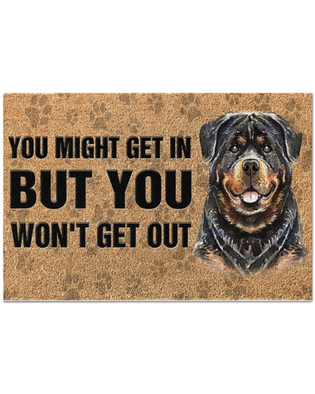 Amazing rottweiler you might get in but you wont get out full printing doormat