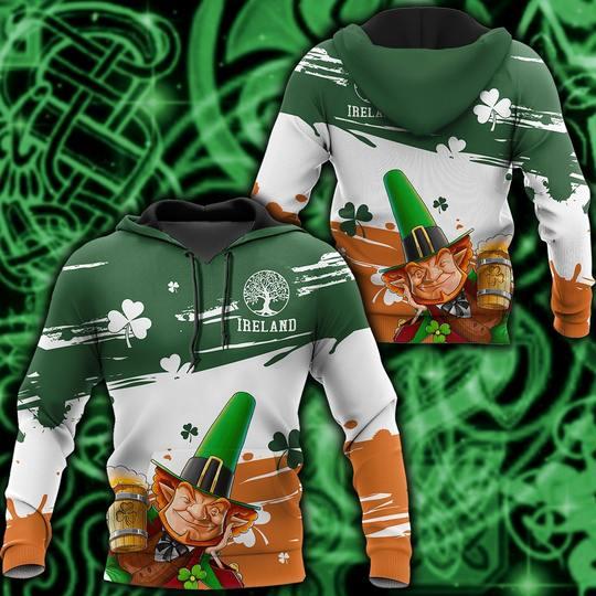 Amazing saint patricks day ireland leprechauns full printing shirt