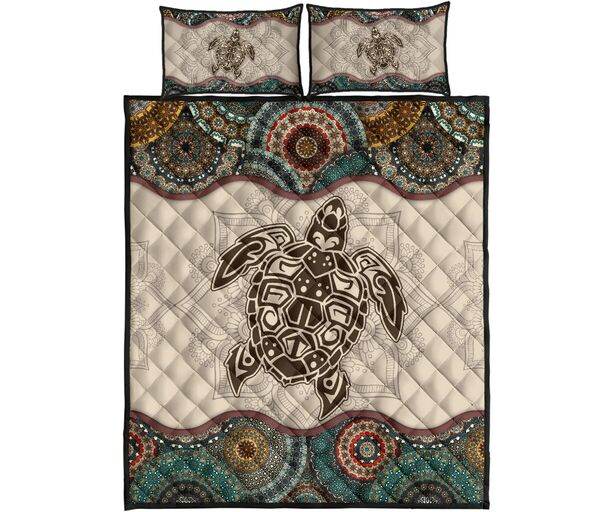 Amazing the sea turtle vintage version all over print bedding set