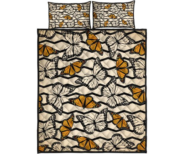 Amazing vintage butterfly in autumn full over print quilt