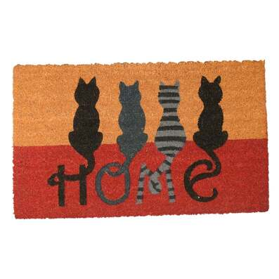 Amazing vintage cats at home all over print doormat