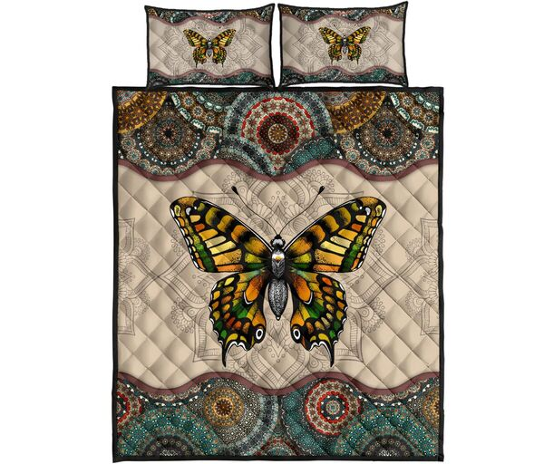 Amazing vintage version butterfly full over print quilt