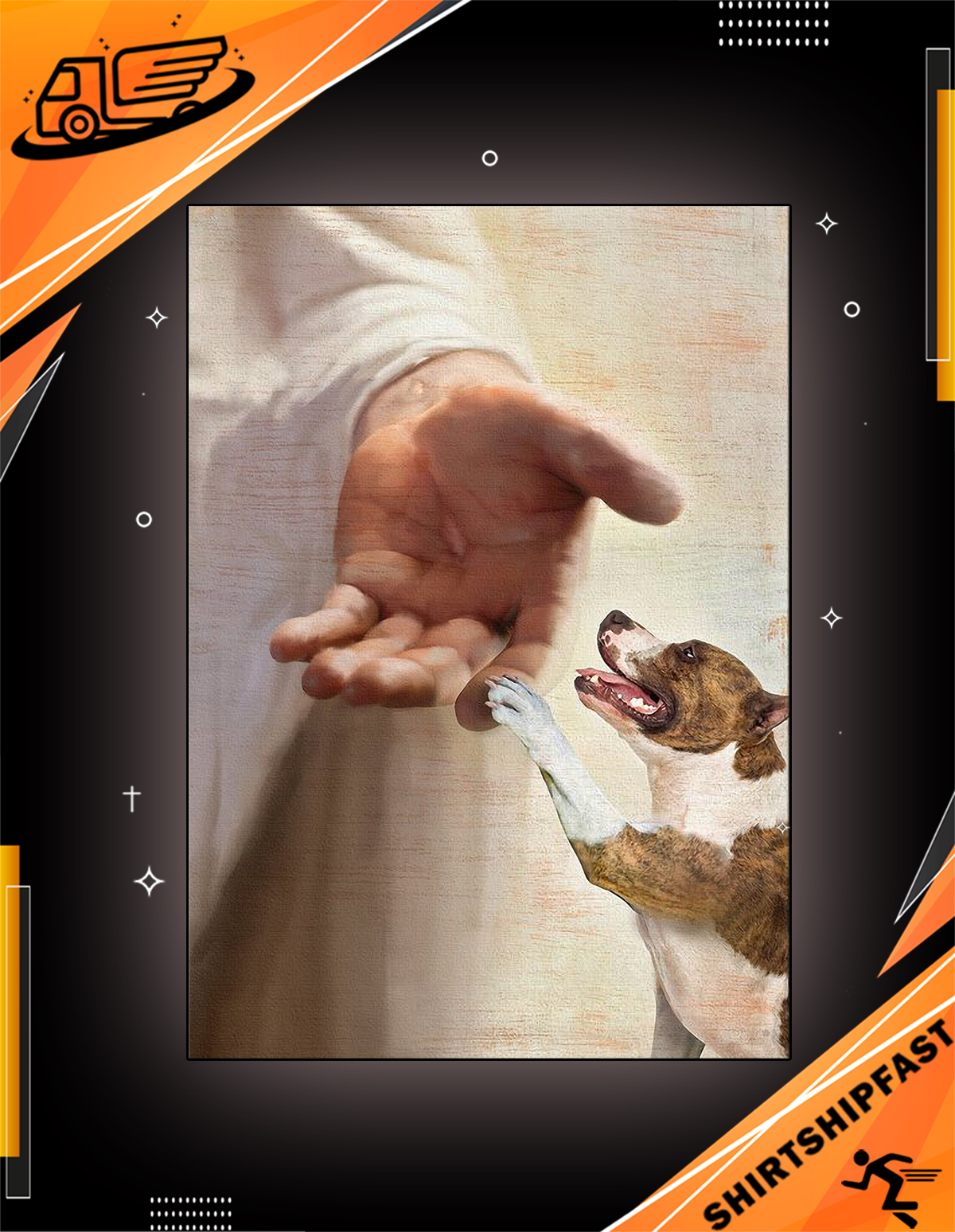 American Staffordshire Terrier take my hand canvas
