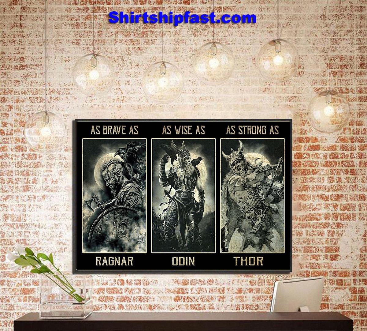 As brave as Ragnar poster