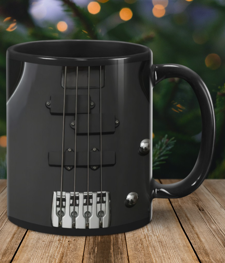 [Sale off] Bass Guitar Black Strings Mug