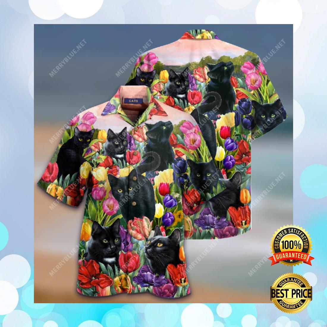 [Trend] Black Cat And Tulip Hawaiian Shirt