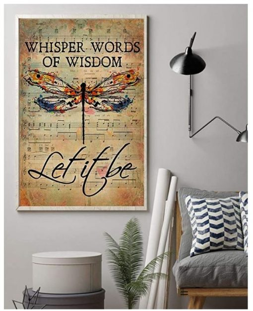 Butterfly Whisper Words of Wisdom Let It Be poster