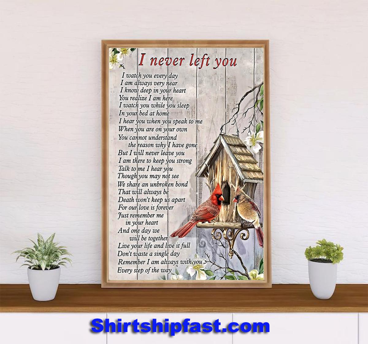 Cardinal i never left you poster