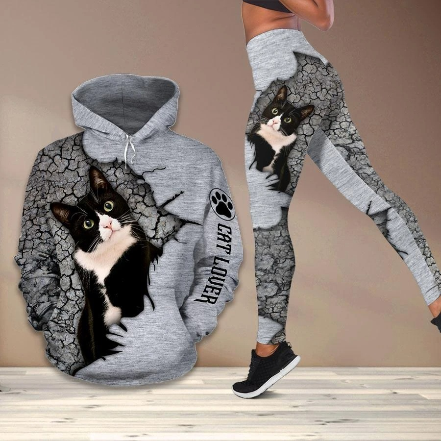 [LIMITED] Cat lover hoodie and legging