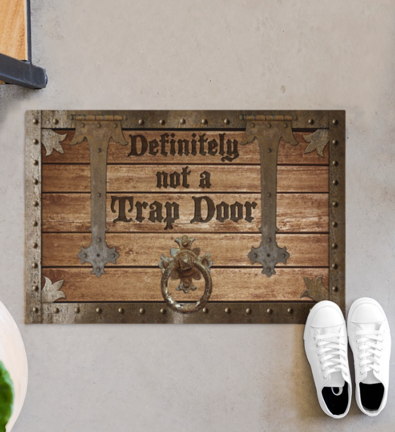 [Discount] Definitely Not A Trap Door Doormat