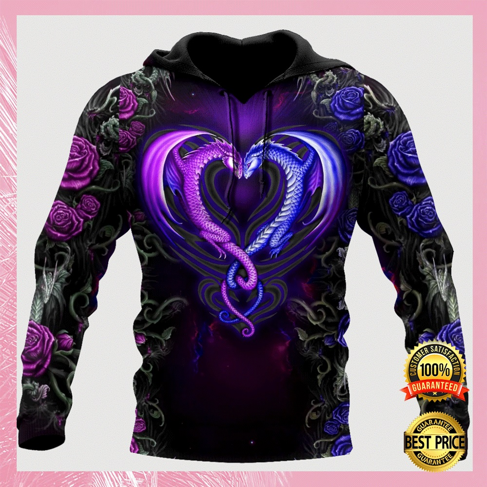 [Trend] Dragon Couple All Over Printed 3D Hoodie