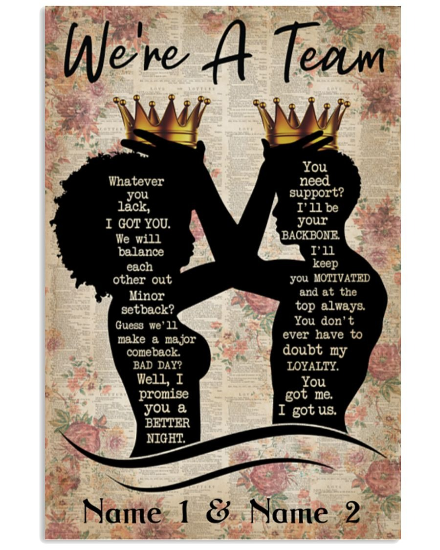 [LIMITED] Family We're a team custom personalized name poster