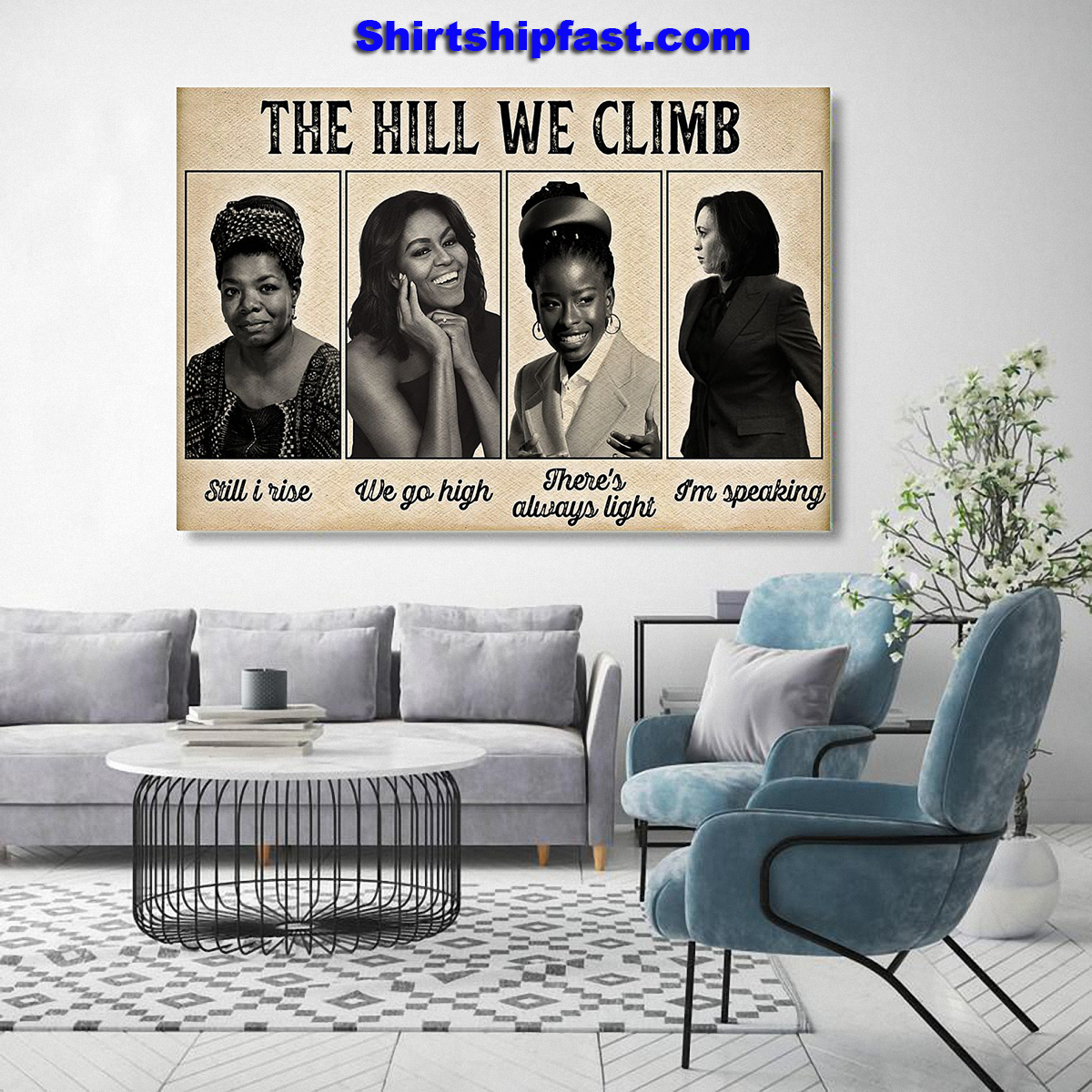 Feminists The hill we climb poster