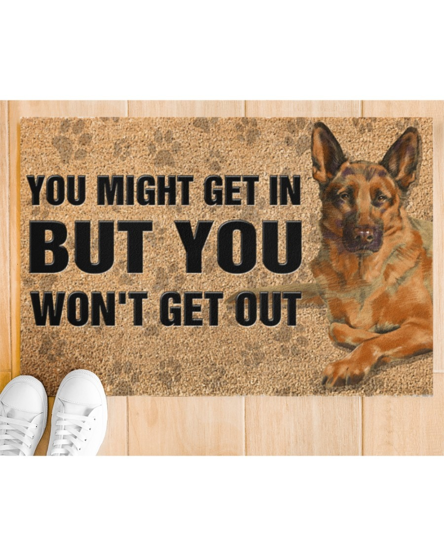[LIMITED] German Shepherd you might get in but you won't get out doormat