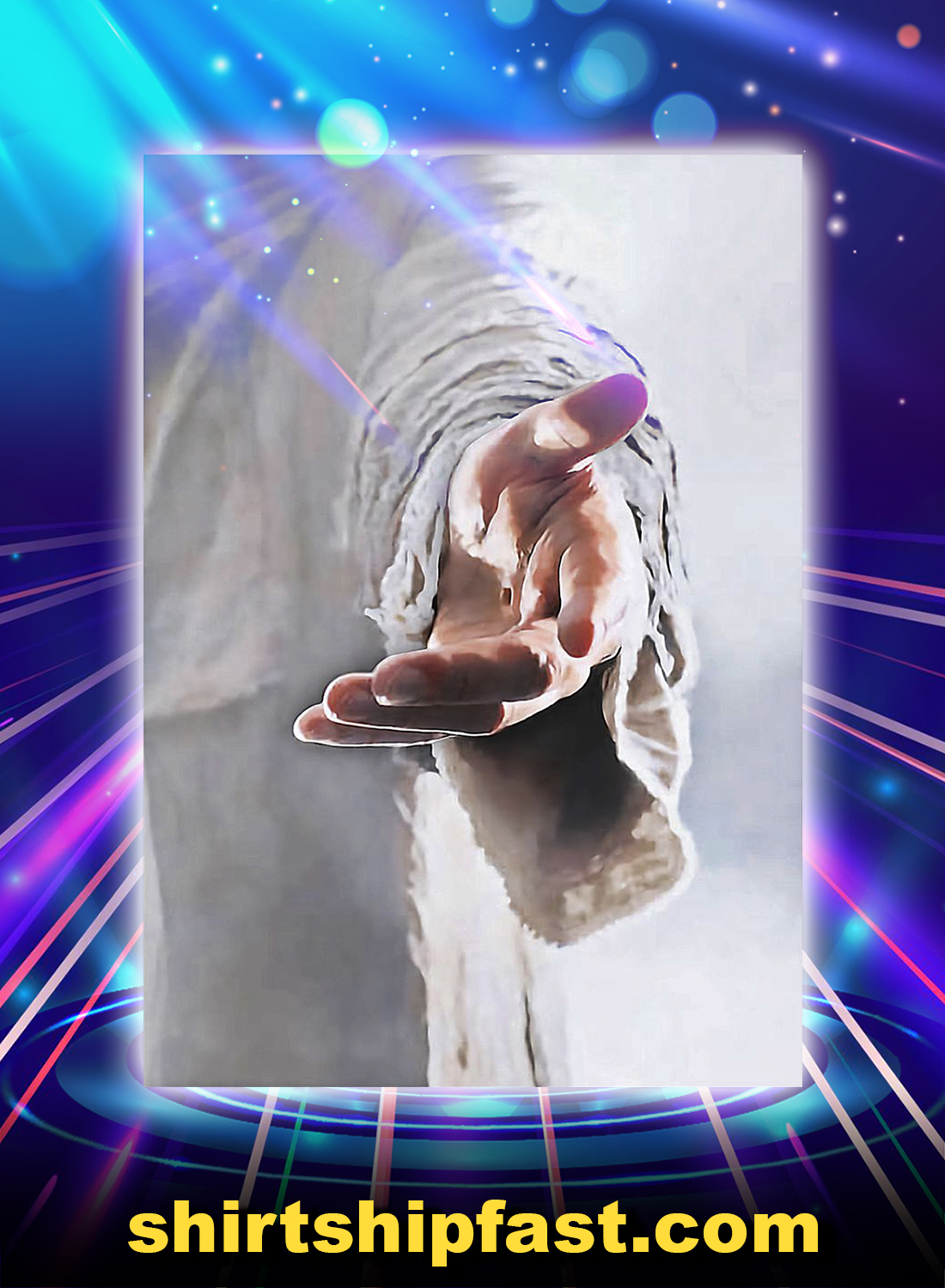 Give me your hand Jesus poster