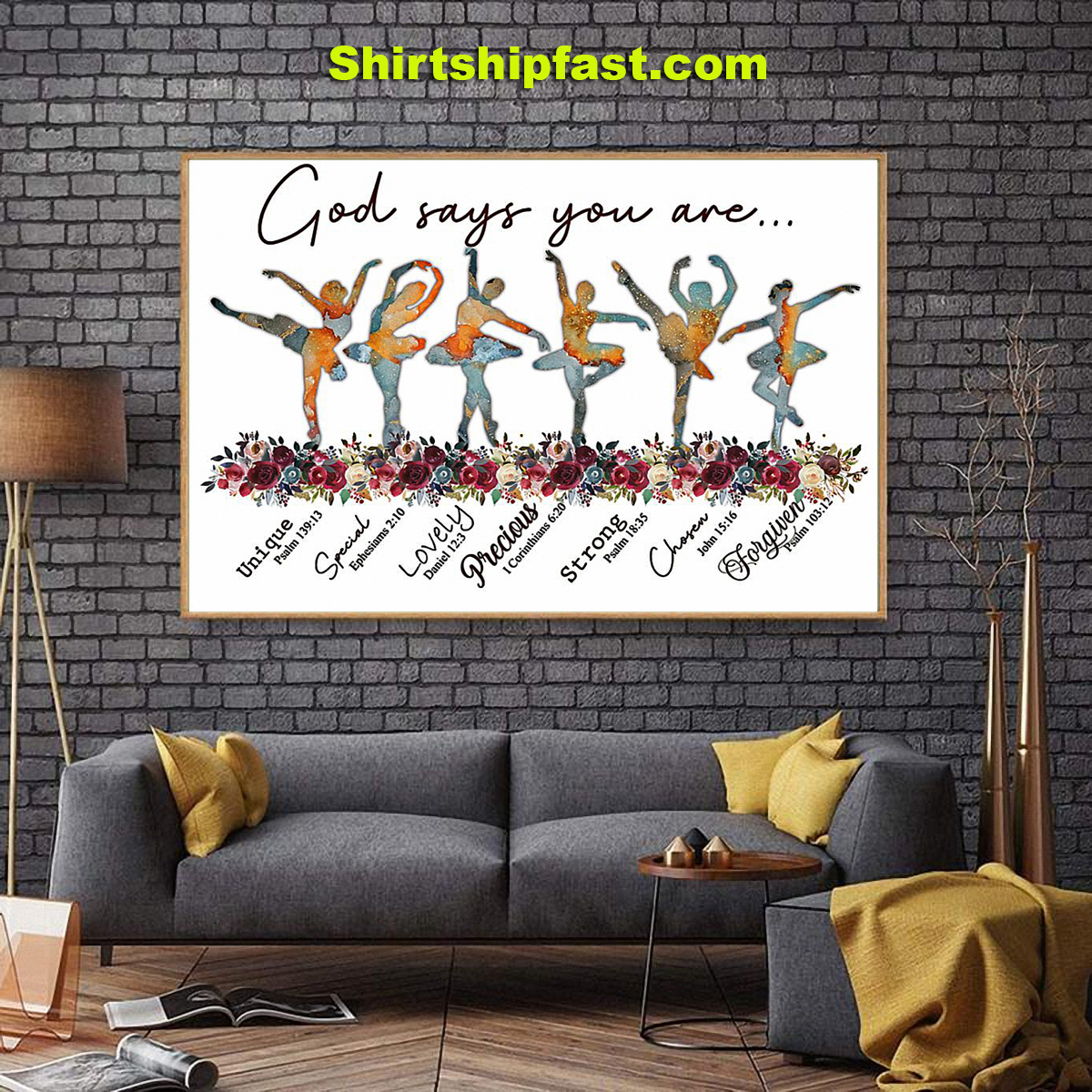 God says you are ballet poster