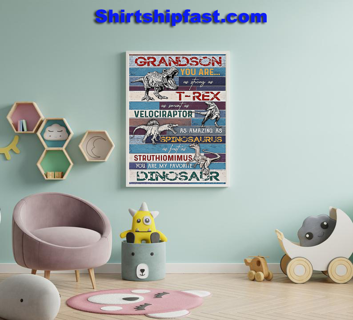 Grandson You are my favorite dinosaur poster