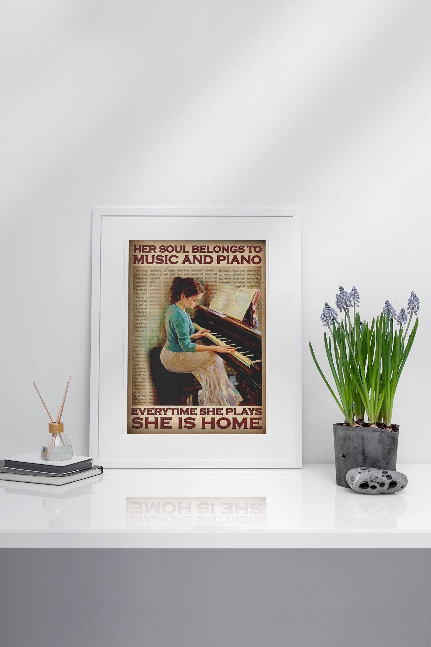 Her soul belongs to music and piano everytime she plays she is home poster