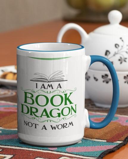 [LIMITED] I am a book dragon not a worm mug