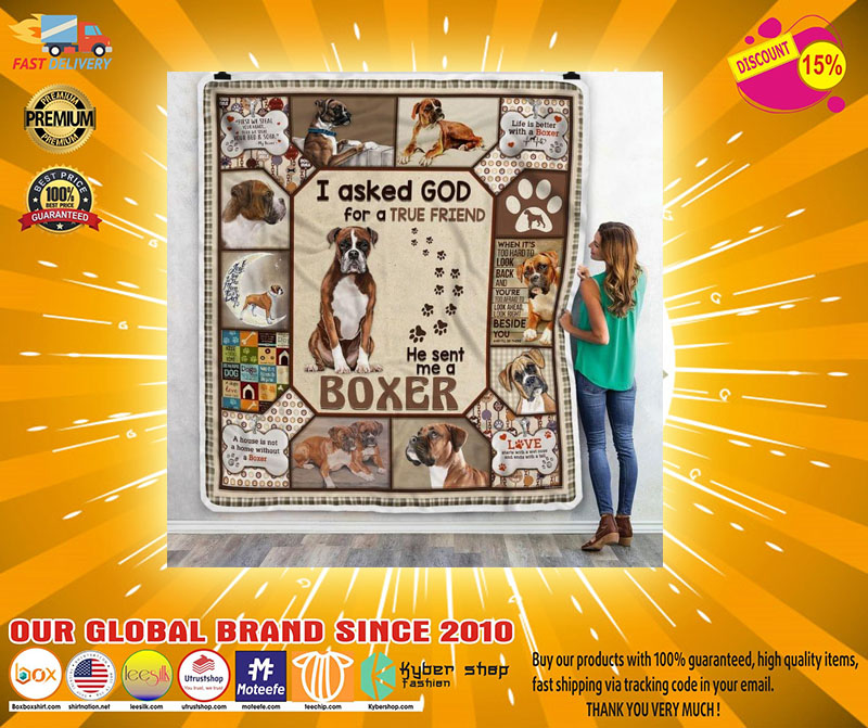 [LIMITED] I asked god for a true friend he sent me a boxer dog bedding set