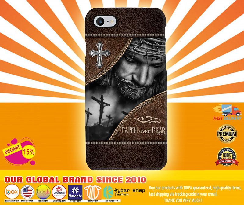 [LIMITED] Jesus God faith over fear phone case