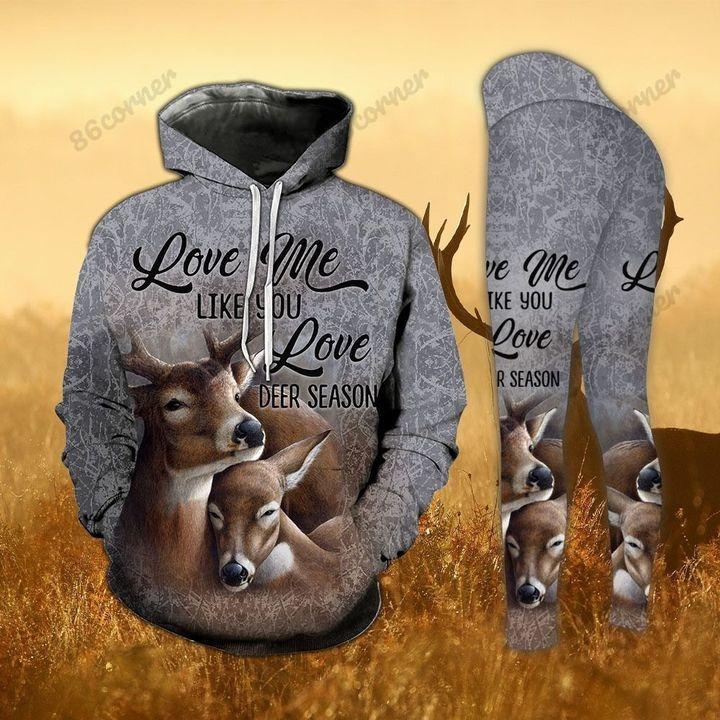 [LIMITED] Love me like you love deer season hoodie and legging