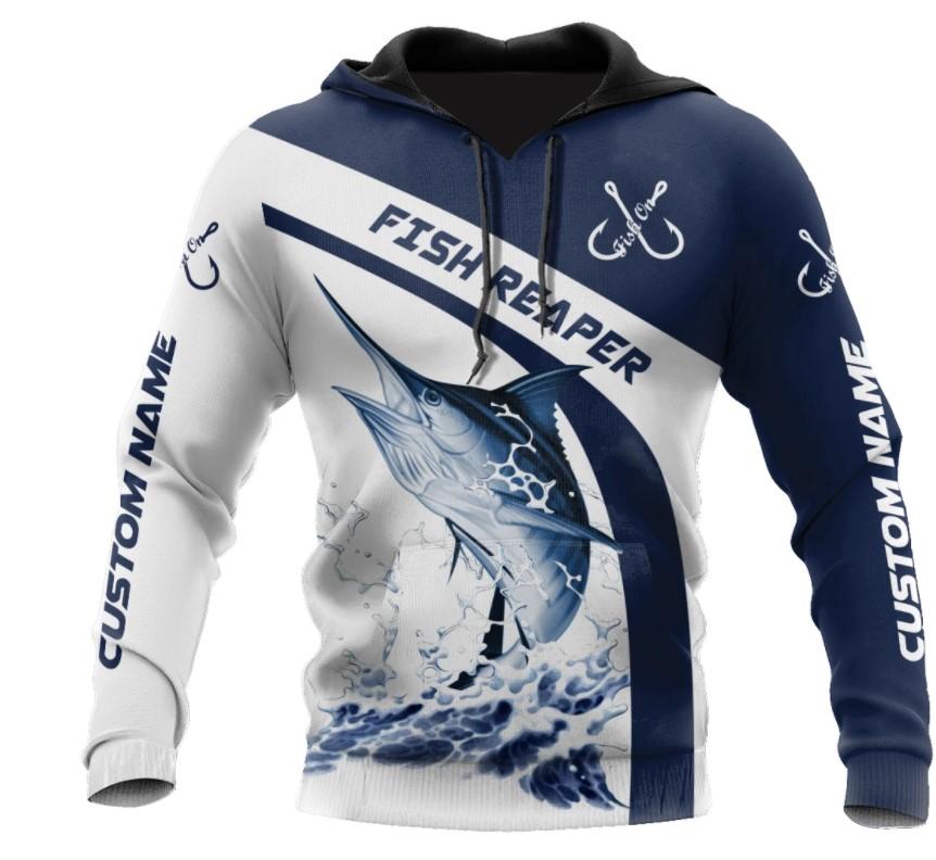 [LIMITED] Marlin fish reaper custom name 3D hoodie