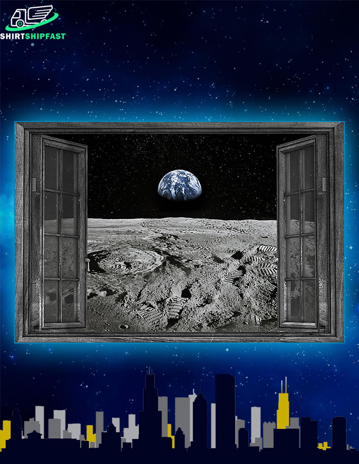 NASA found water on moon poster