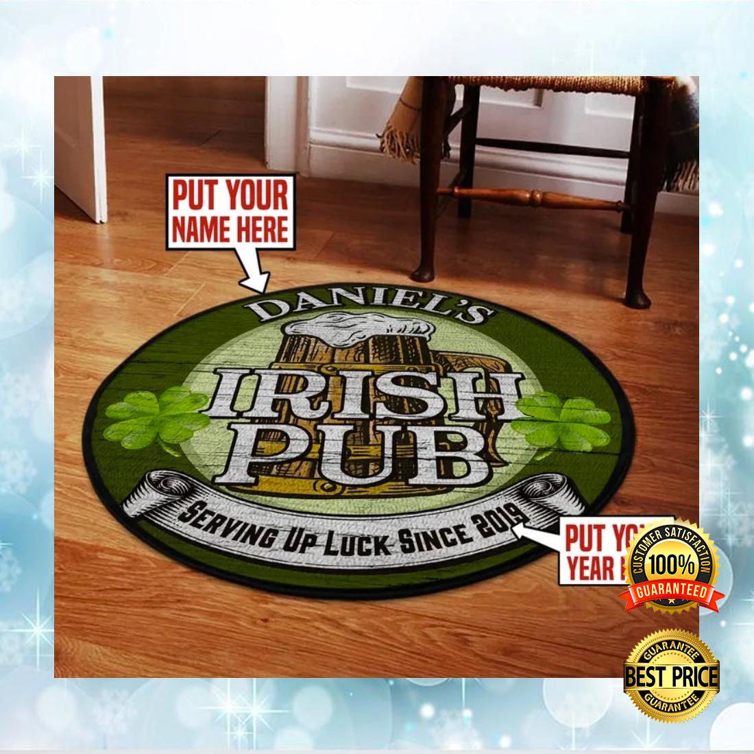 [New] Personalized Irish Pub round Rug