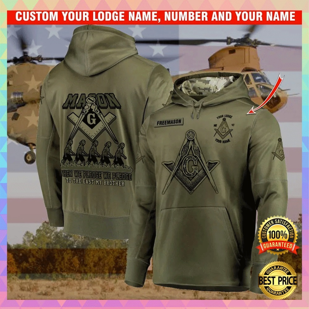 [Discount] Personalized Mason When We Pledge We Pledge To The East My Brother All Over Printed 3D Hoodie