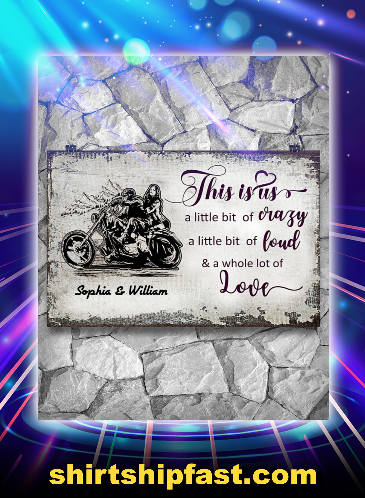 Personalized Motorcycle this is us a little bit of crazy poster