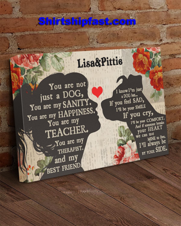 Personalized Pitbull girl therapist best friend canvas