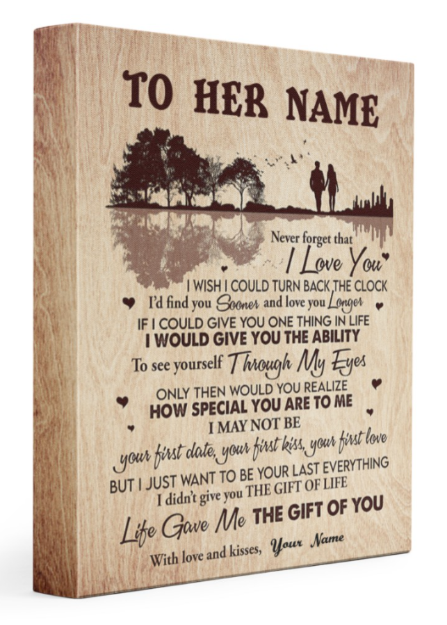 [Limited] Personalized Never Forget That I Love You I Wish I Could Turn Back The Clock Canvas