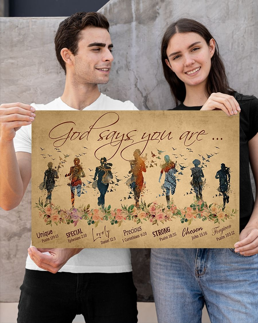 [LIMITED] Running Woman God says you are unique special poster