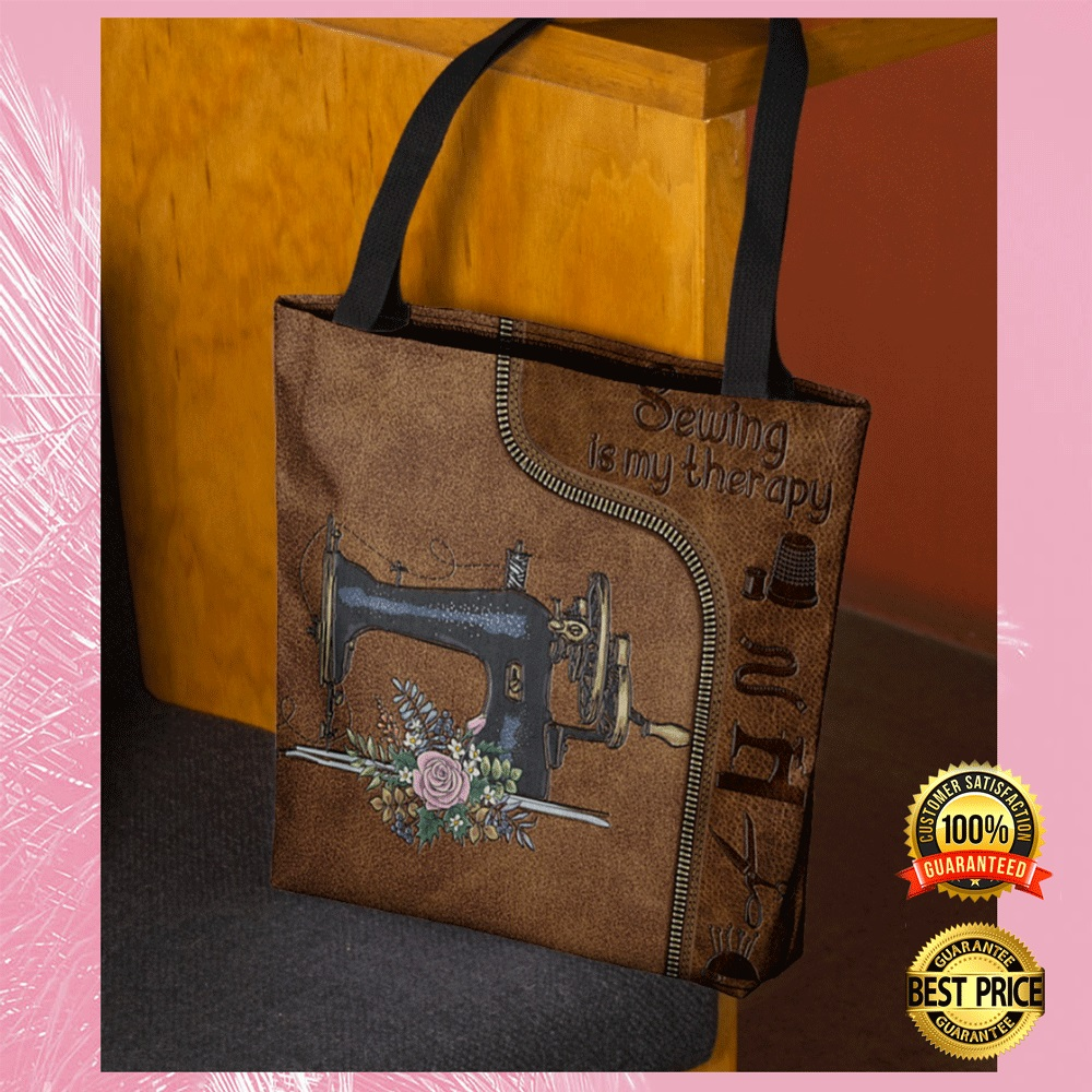 [Sale off] Sewing Is My Therapy Tote Bag