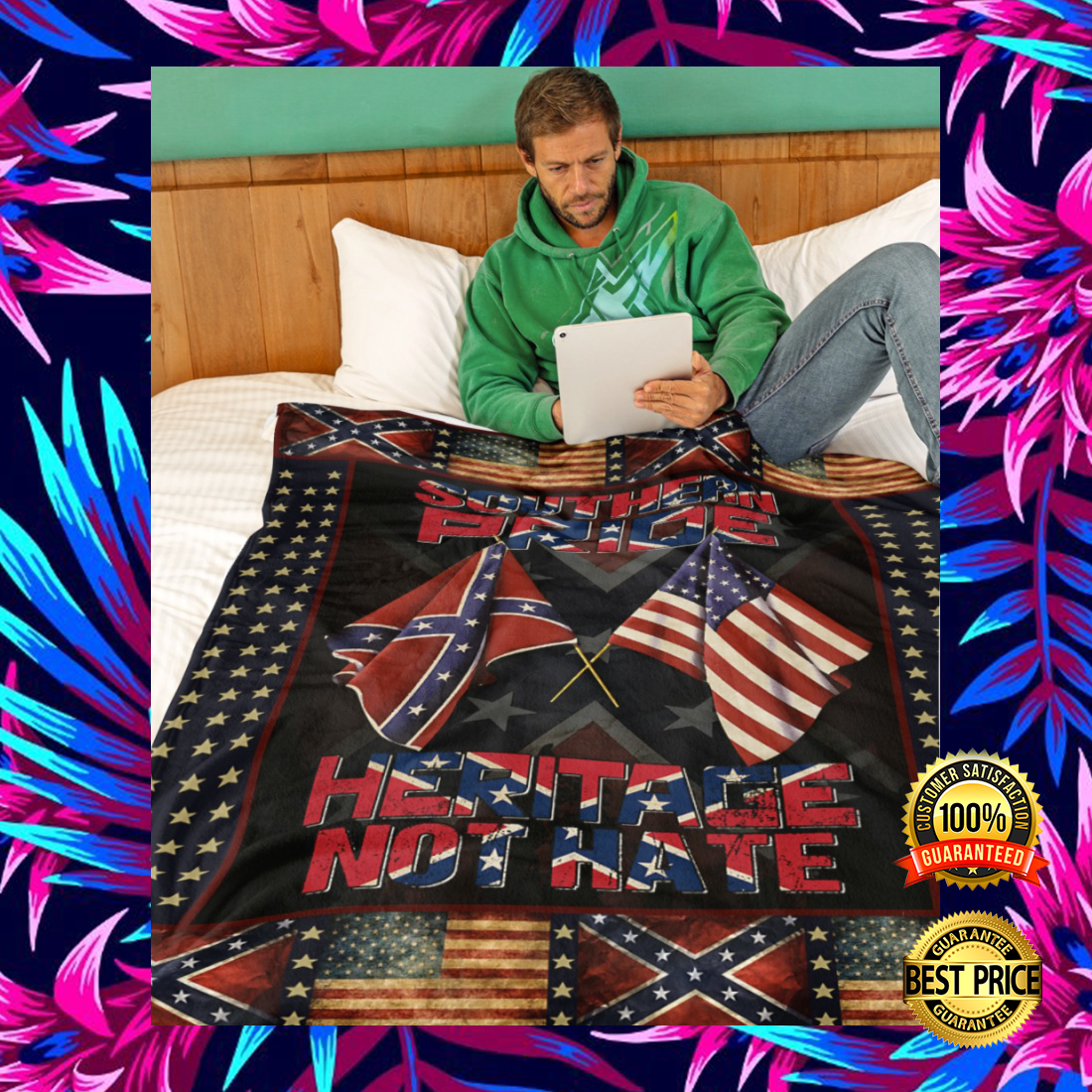 [New] Southern Pride Heritage Not Hate Blanket