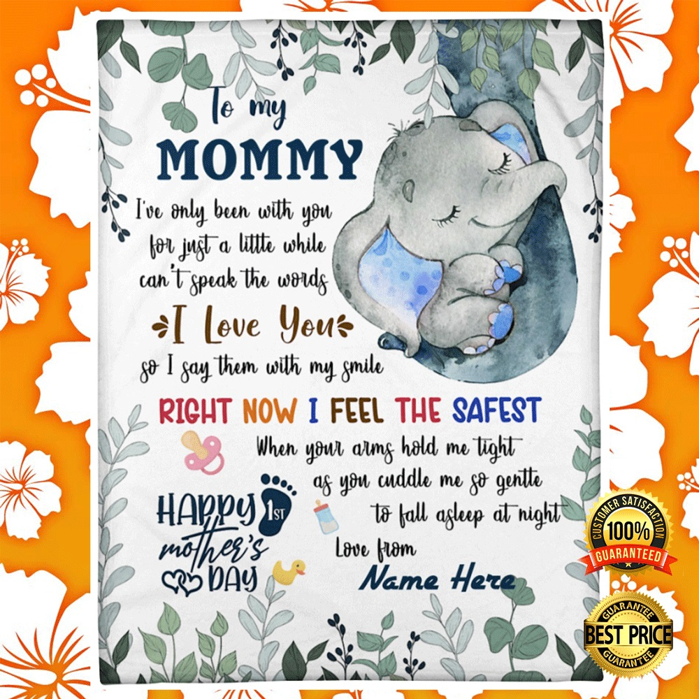 [Sale off] To My Mom I've Only Been With You For Just A Little While Can't Speak The Words I Love You Blanket