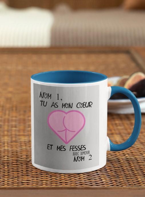 [LIMITED] Tu as mon coeur et mes fesses mug