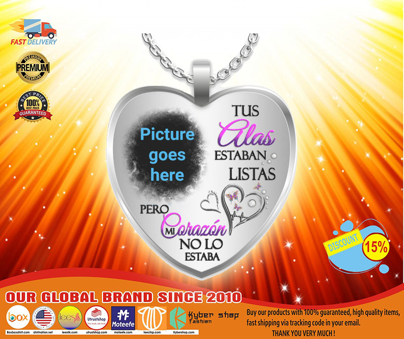 [LIMITED] Tus alas estaban listas pero necklace custom personalized picture