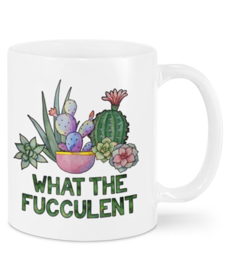[Discount] What The Fucculent Mug