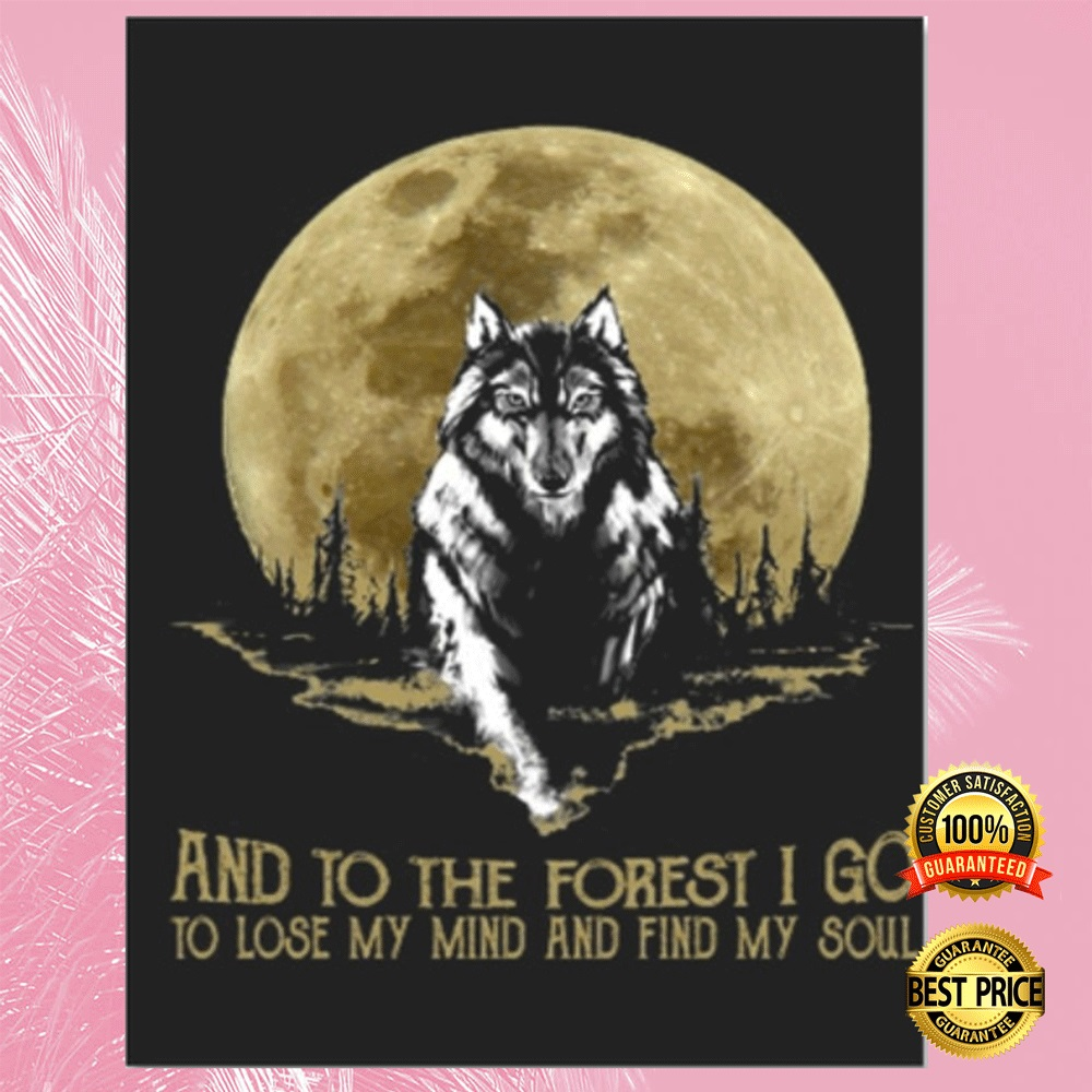 [Trend] Wolf And Into The Forest I Go To Lose My Mind And Find My Soul Sticker