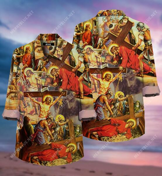 Amazing always put your hope in Jesus all over printed hawaiian shirt