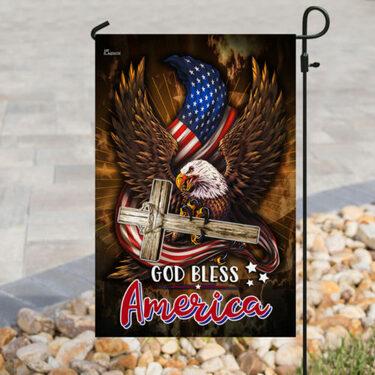Amazing american flag God bless america all over print flag