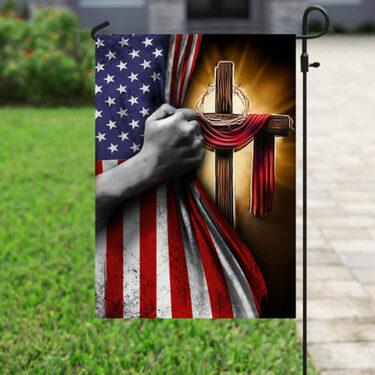 Amazing american flag God cross all over print flag
