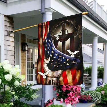 Amazing american flag christian cross flag all over print flag