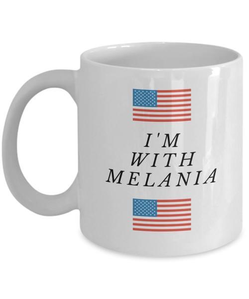 Amazing american flag i'm with melania mug