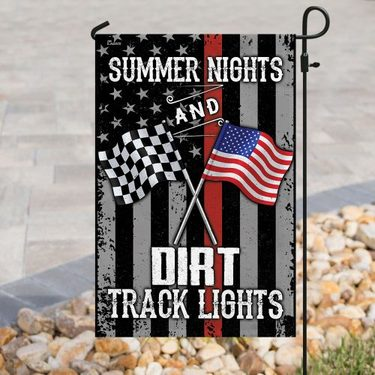 Amazing american flag summer nights and dirt track lights all over print flag