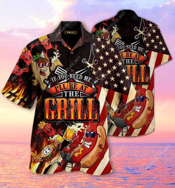 Amazing barbecue if you need me i will be at the grill all over printed hawaiian shirt