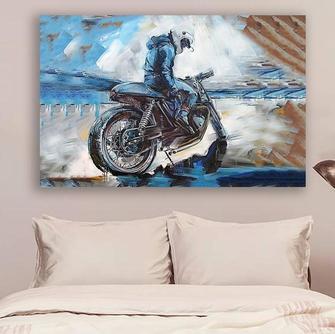 Amazing biker watercolor wall decor visual art poster